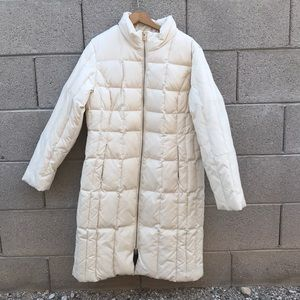 Michael Kors Long White Puffer Coat